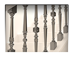 Creation 3D models of balusters for production.