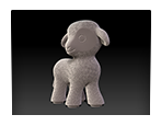 Digital sculpting for the production of children's toys. Lamb Figurine.